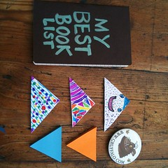 Packaging lots of little book loving kits for our friends...