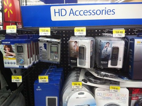 Digital Audio Recorders at Walmart by Wesley Fryer, on Flickr
