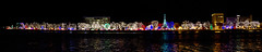 All of the Lights, Panoramic Attempt #2 (Calarcom) Tags: christmas city winter river mississippi landscape lights la cityscape panoramic scape rotary crosse