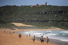 Palm Beach with the Barranjoey Lighthouse (Alex E. Proimos) Tags: life summer lighthouse beach sydney australia tourist palm nsw surrounds the barranjoey