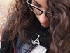 • a simple triangle, that means life. (Sarah Messina) Tags: life girl beautiful hair italia curly ricci parma amore ragazza triad capelli echelon 30secondstomars glyphics necklage