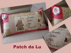 Almofada personalizada (Patch da Lu) Tags: almofadapersonalizada almofadapatchwork almofadacomfrases