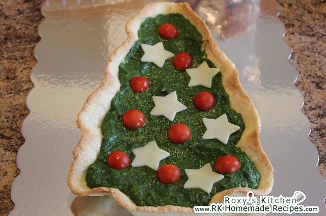 Christmas Tree Tart with Creamed Spinach