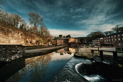 Cromford Mill (Stevacek) Tags: heritage mill industry water reflections canal nikon derbyshire sigma industrialrevolution historical 1224mm hdr cromford textil arkwright 1771 stevacek d700