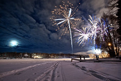 Happy New Years (michael spear hawkins) Tags: new winter lake snow cold ice alaska happy 1 nikon fireworks year explosion january ak anchorage jewel 2012 1112 d700 winter2012