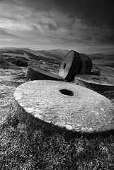 Millstones (andy_AHG) Tags: winter rural sunrise outdoors rocks peakdistrict scenic moors pennines stanageedge britishcountryside northernengland landscapephotography millstones beautifullandscapes newyearsday2012