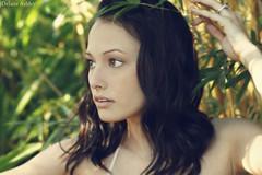 Somethings got a hold of me (JustDelane) Tags: plants brown girl sunshine garden photography 50mm model eyes ashley bamboo ring brunette delane