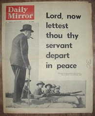 DAILY MIRROR (old school paul) Tags: vintage frontpage 1965 dailymirror winstonchurchillnewspapers