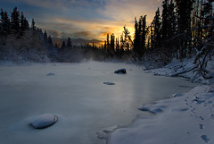 The Spell of the Yukon (kdee64) Tags: winter ice sunrise yukon sundog whitehorse yukonriver coldmorning northerncanada