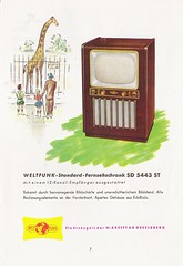 KREFFT - WELTFUNK TV, Radio and Phonograph Brochure (W-Germany 1954)_07 (MarkAmsterdam) Tags: old classic sign metal museum radio vintage advertising design early tv portable colorful fifties tsf mark ad tube battery engineering pickup retro advertisement collection plastic equipment deck tape electronics era handheld sheet booklet collectible portfolio eames electrical atomic brochure console folder forties fernseher sixties transistor phono phonograph dealer cartridge carradio taperecorder fashioned transistorradio tuberadio pocketradio 50's 60's musiktruhe tableradio magnetophon plaskon 40's kitchenradio meijster markmeijster markamsterdam coatradio tovertoom