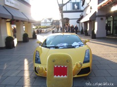 Domo vs Lamborghini Gallardo (tofu_catgirl) Tags: yellow toy toys domo diablo domokun lamborghini supe