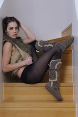 Daniela...  d10 (juergenberlin) Tags: woman sexy girl beauty stair lingerie dessous