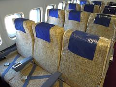 Seat fronts (kevincrumbs) Tags: luzern lucerne sr airliner swissair convair verkehrshaus convair990 swissmuseumoftransport dopplr:explore=re81 convaircv990 hbicc convair990coronado