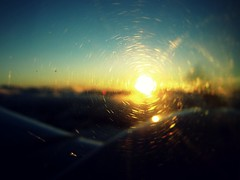 What Lies Beyond What's Just Ahead? (Exclaim.Photography) Tags: sun window sunrise airplane aztec dirtywindow piperaztec