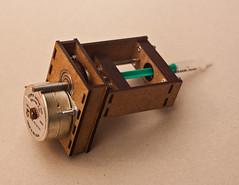 Motorized Syringe (Quasimondo) Tags: prototype syringe motor stepper lased