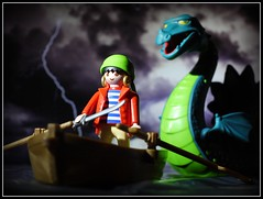 """Here fishy fishy fishy"" (R D L) Tags: boat pirate seamonster playmobil nessie"