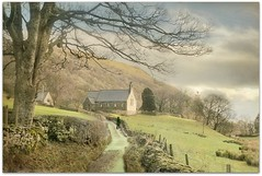 The Road To St Mary's (~ paddypix ~) Tags: road england church rural landscape countryside cumbria countryroad postmanpat thelakedistrict westmorland longsleddale