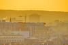 Paris vu depuis le Parc de Belleville 4 Beaubourg et le siège de BOUYGUES Telecom à Issy-les-Moulineaux