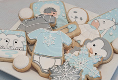 Born on a very cold day (MissCuit.com) Tags: bear snowflake baby snow reindeer cookie diaper biscuit seal neige bébé igloo phoque onesie ours flocon couche