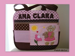 Bolsa Ana Clara (Patch da Lu) Tags: bolsaursinha bolsamalinharosaemarrom bolsapatchcomursinha