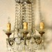 221. Antique Crystal Candelabra Sconce