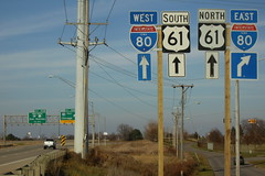 North end of Business US 61 (iowahighways) Tags: i80 davenport shields interchange clearview bradystreet bgs us61 scottcounty businessus61