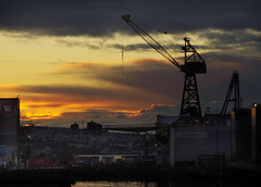 Dawn at the shipyard (ruthlesscrab) Tags: northvancouver shipyard drydock seaspan lonsdalequay