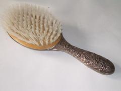 silver hairbrush