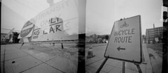 Recalculating (J.Sod) Tags: longexposure signs exposure nashville image doubleexposure double pinhole swap pinholecamera roadsigns zero ilford zero2000 pinholephotography zeroimage seatte blackandwhitephotography zero69 zeroimagepinhole panfplus f138 filmswap squarepegpinhole deltapanfplus assa50 seattlevianashville