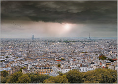 Toi, Paris... (Jean-Michel Priaux) Tags: city roof sky panorama paris france architecture photoshop spectacular europe horizon eiffel montmartre sacrcoeur capitale montparnasse terrific toits monparnasse megapole priaux megapol mygearandme ringexcellence