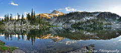 Mirror Lake Wide Pano (Coop Photography) Tags: two panorama mountain lake oregon river photography mirror nikon afternoon eagle 26 or north wide lakes fork august basin east trail cap 25 valley coop pan 28 wilderness 27 2011 d90 lostine