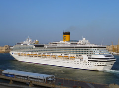 Costa Concordia Departing (albireo2006) Tags: blue sea wallpaper costa water mediterranean ship background cruiseship underway liner valletta cruiseliner grandharbour costacrociere v18 costaconcordia costacruises valletta2018