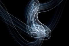 Two Worlds. (C a f r i n e) Tags: blue light white black silver dark swirl