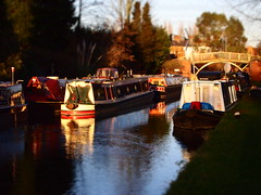 Last Light on a Winters Day (cycle.nut66) Tags: bridge trees art water four boat high arm union grand olympus m filter micro aylesbury residential zuiko diorama diarama thirds reflaction narow narrowboats epl1 mzuiko