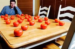 Whole (Lotta) Foods (rebelshootsfan) Tags: food man guy me self tomato eat health 365 nutrition 366