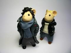 Sherlock and John Mice (Quernus Crafts) Tags: cute mouse mice polymerclay watson sherlockholmes sherlock johnwatson シャーロック quernuscrafts
