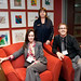Jane Demarco Director RMHC Toronto, Heather Hogeboom & Jeff Gold on Demi Chairs