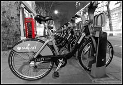 London - Boris bikes . . . (Beauty Eye) Tags: park city uk longexposure bridge sea london eye tower bike thames architecture night canon river booth dark landscape eos rebel lights europe long exposure phone nightshot unitedkingdom box britain outdoor telephone great bikes cycle gb boris tamron hire barclays westminister t3i bch europen ultrawideangle   f3545  600d    londontrafalgarsquare leurope blackwhitephotos   beautyeye 1024mm londontelephonebox  canon600d eneurope  tamronspaf1024mmf3545diiild barclayscyclehire rebelt3i diiild canon600deos tamronspaf1024mmf3545d