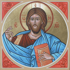 Christ Pantocrator with Symbols for the Four Evangelists (MatthewDGarrett) Tags: saint icons catholic christ god jesus saints icon lord christian holy christianity ikon orthodox iconography savior apostolic orthodoxy ikons pantocrator ikonography iconographer ikonographer deaconmatthewgarrett stsacredart