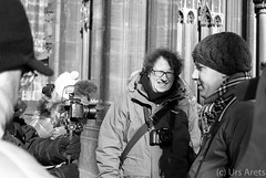 Interview... (SportGoofy100) Tags: bw dom kln photowalk interview schwarzweis thomasleuthard