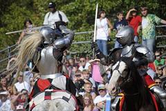 Knight Battle on Horseback (Brandi Miller) Tags: horses horse festival battle fair suit knights armor sword knight ren faire fighting fest joust swords renaissance horseback jousting battling reenacting