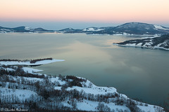 Dusk, Lake Plastira (Christos Andronis) Tags: travel winter colour nature colors season landscape outdoors scenery europe solitude loneliness quiet colours peace earth scenic tranquility nopeople greece scenics tranquilscene unpolluted colorimage thessaly thessalia colourimage plastiraslake θεσσαλία lakeplastira greeknature christosandronis gigreecefeb12