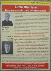Georges Millot (emmanuelsaussieraffiches) Tags: poster political politique affiche lutteouvrire