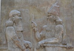 Relief from the palace of Sargon II at Khorsabad, 713 - 706 BCE (35) (Prof. Mortel) Tags: paris france louvre iraq mesopotamia assyrian sargonii khorsabad