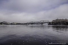 First Fog of 2016 - one way Quebec joins Ontario. (gregoryscottclarke photography) Tags: river spring downtown ottawa rideaucanal victoriaisland thelocks