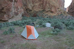 Home, sweet home! (rozoneill) Tags: lake oregon river carlton butte desert hiking painted canyon vale trail backpacking saddle blm uplands owyhee honeycombs