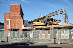I bet that didn't use the stairs to the second floor (roddersdad) Tags: buildings demolition lincolnshire april gainsborough 2016 trackedvehicles copyrightclivejmaclennan cliveg1hkfeclipsecouk volvoec250e fujifilmx100t httpswwwflickrcomphotosroddersdad udcsdemolition