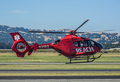 reach for life (pbo31) Tags: california red color june spring airport nikon flight medical helicopter bayarea eastbay reach emergency livermore municipal alamedacounty 2016 boury pbo31 d810