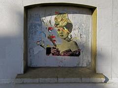 streets of brighton (maximorgana) Tags: street shadow art wall brighton gun leopard actress trashbit