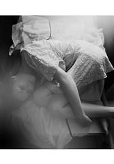 Voices have left me (lunarlaro) Tags: light portrait blackandwhite woman black soft shadows dress autoportrait skin body soul emotions